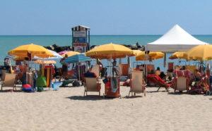 spiaggia sabbiosa mare marche